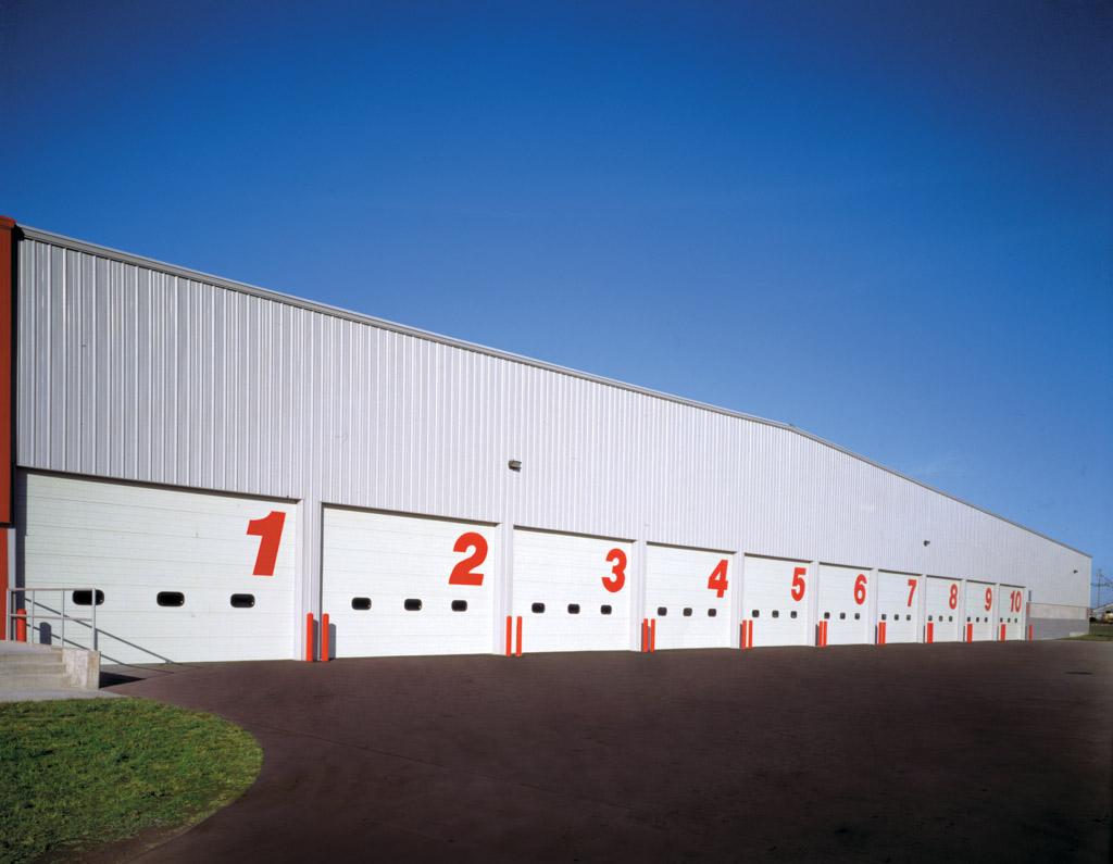sectional steel commercial garage doors